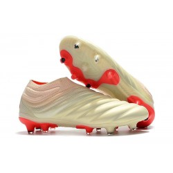 Adidas Copa 19+ FG New Mens Soccer Boots - Off White Solar Red
