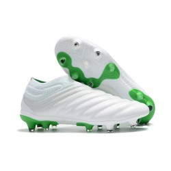 Adidas Copa 19+ FG New Mens Soccer Boots - White Green