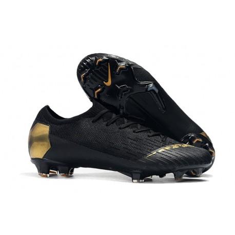 Mens Nike Mercurial Vapor 12 FG Soccer Boots - Black Golden