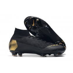 Nike Mercurial Superfly 6 Elite Firm Ground Cleats - Black Gold