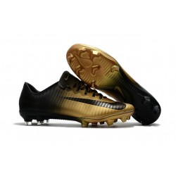 Nike Mercurial Vapor XI FG New Soccer Cleat Gold Black