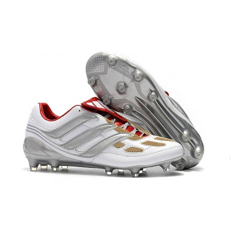 Adidas Predator Accelerator FG Firm Ground Boots - Grey Gold Red