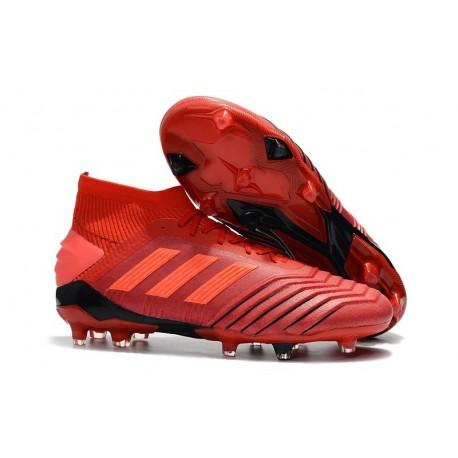 adidas Predator 19.1 FG Firm Ground Boots - Red