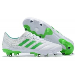 Adidas Copa 19.1 FG Firm Ground Mens Boots - White Green