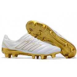 Adidas Copa 19.1 FG Firm Ground Mens Boots - White Golden