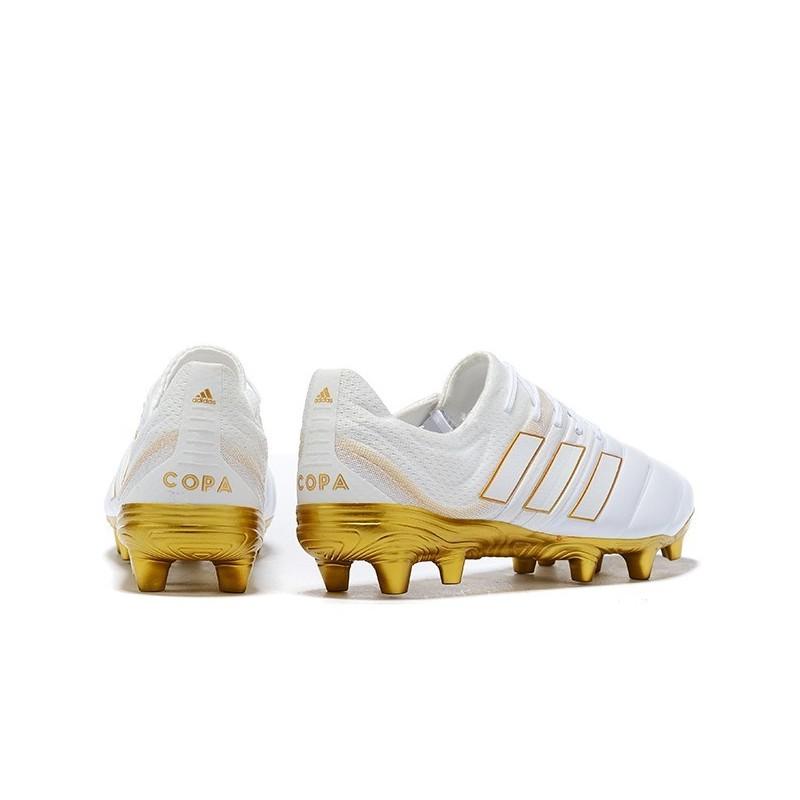 adidas copa 19.1 fg white gold