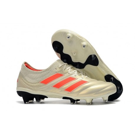 Adidas Copa 19.1 FG Firm Ground Mens Boots - White Solar Red