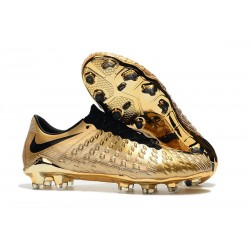 Nike Hypervenom Phantom 3 FG Firm Ground Cleats - Gold Black