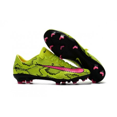 Nike Mercurial Vapor XI FG New Soccer Cleat Yellow Pink