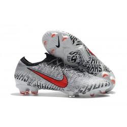 Neymar Nike Mercurial Vapor 12 FG Soccer Boots - White Red