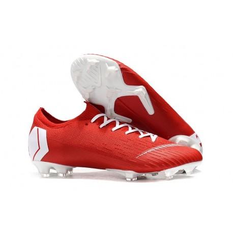 Mens Nike Mercurial Vapor 12 FG Soccer Boots - Red White