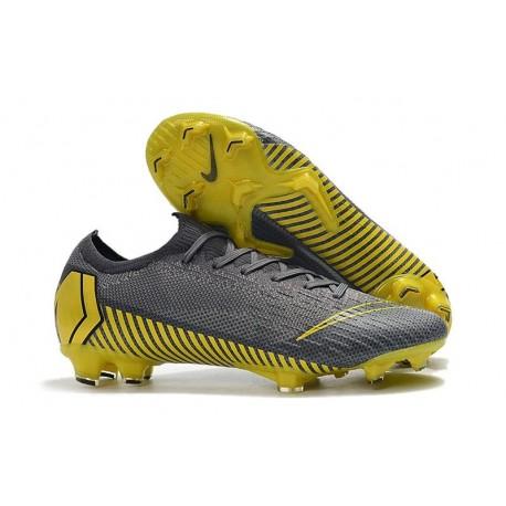 Mens Nike Mercurial Vapor 12 FG Soccer Boots - Dark Grey Black