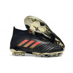 adidas Men's Predator 18+ FG Soccer Boots Black Golden