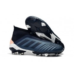 adidas Men's Predator 18+ FG Soccer Boots Cyan Black