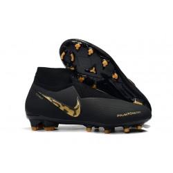 Nike Mens Phantom Vision Elite DF FG Soccer Cleat - Black Lux