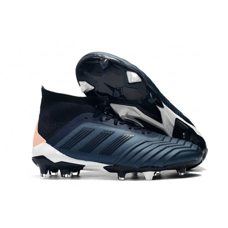 New adidas Predator 18.1 FG Soccer Shoes Cyan Black