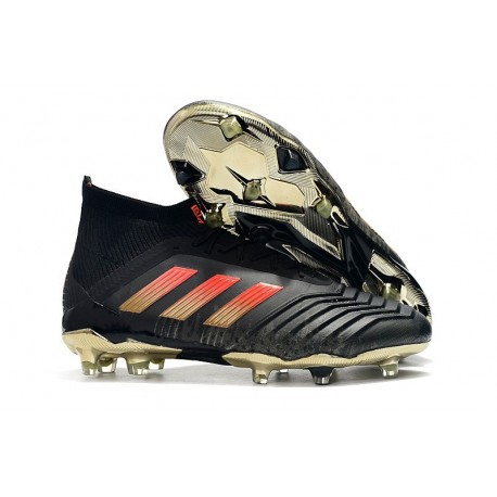 New adidas Predator 18.1 FG Soccer Shoes Black Red