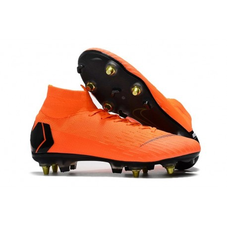 Nike Mercurial Superfly 6 Elite Anti-Clog SG Orange Black