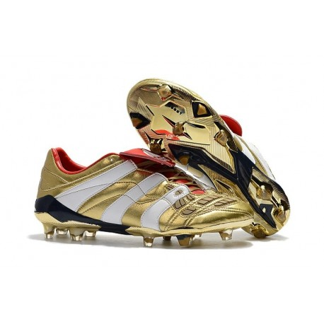 New Adidas Predator Accelerator Electricity Cleats - Gold White Red