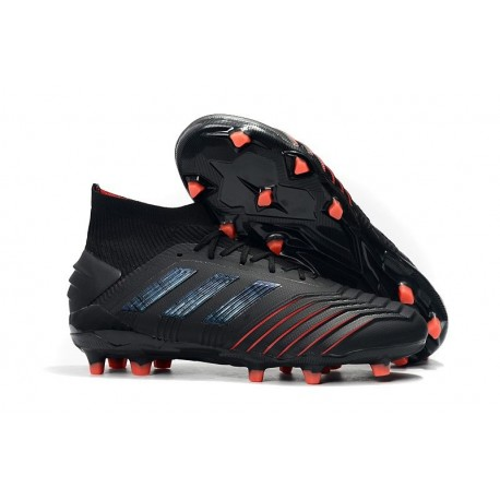 adidas Archetic Predator 19.1 FG Firm Ground Boots - Black Red