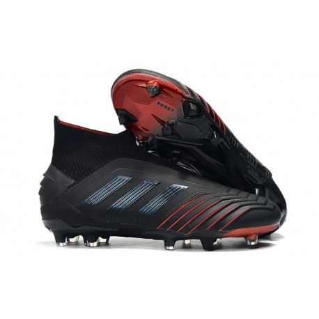 New adidas Archetic Predator 19+ FG Soccer Cleats Black Red