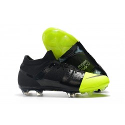 New Nike Mercurial GS360 Soccer Boots - Black Metallic Silver Volt