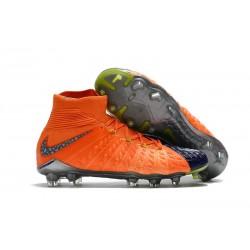 New 2017 Nike Hypervenom Phantom 3 DF FG ACC Soccer Cleats Orange Purple