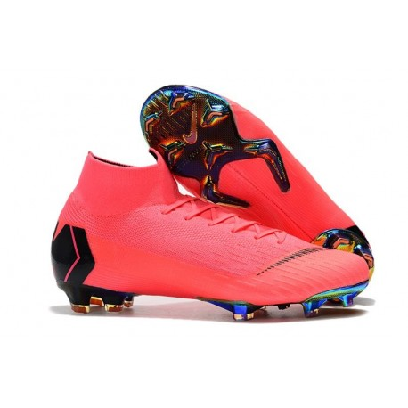 Nike Mercurial Superfly 6 Elite Firm Ground Cleats - Pink Black
