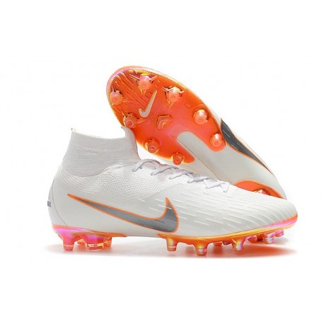 Nike Mercurial Superfly 6 Elite AG-Pro Soccer Boots White Orange
