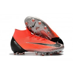 Nike Mercurial Superfly 6 Elite AG-Pro Soccer Boots Crimson Black Silver