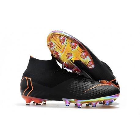 Nike Mercurial Superfly 6 Elite AG-Pro Soccer Boots Black Orange