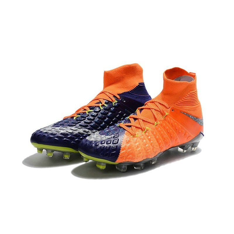 54e702c6fc9 New 2017 Nike Hypervenom Phantom 3 DF FG ACC Soccer Cleats Orange Purple
