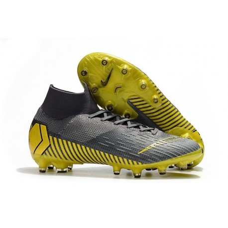 Nike Mercurial Superfly 6 Elite AG-Pro Soccer Boots Grey Golden