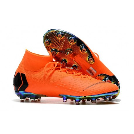 Nike Mercurial Superfly 6 Elite AG-Pro Soccer Boots Orange Black