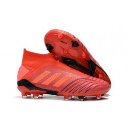 New adidas Predator 19+ FG Soccer Cleats Crimson