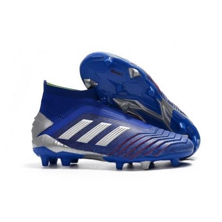 New adidas Predator 19+ FG Soccer Cleats Blue Silver