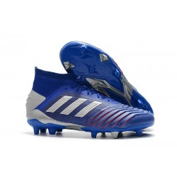 adidas Predator 19.1 FG Firm Ground Boots - Blue Silver