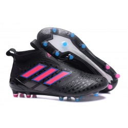 New 2017 adidas ACE 17+ Purecontrol FG Soccer Cleats - Core Black Pink