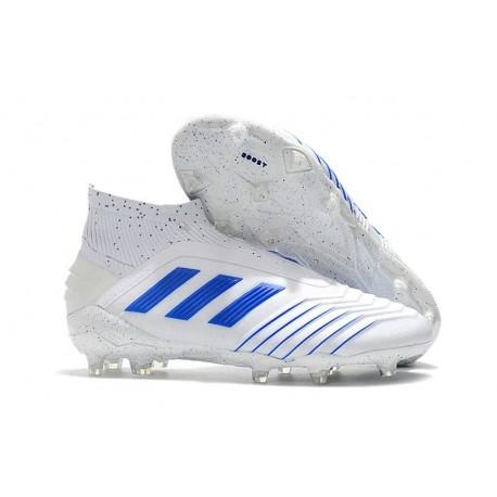 New adidas Virtuso Predator 19+ FG Soccer Cleats White Blue