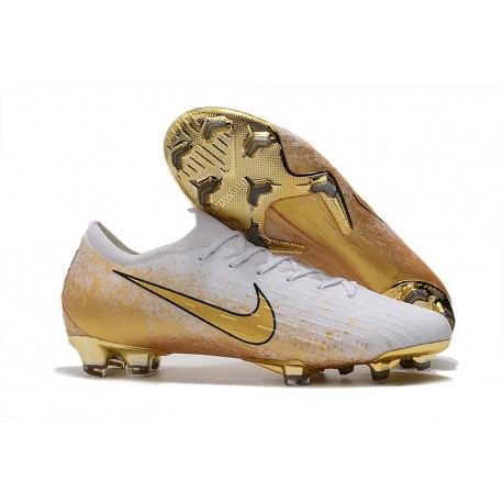 Nike Mercurial Vapor XII FG New Cleat White Golden