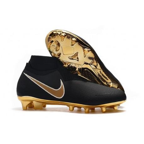 News Nike Phantom Vision Elite DF FG Boots Black Golden