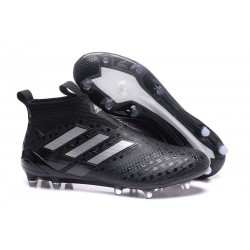 New 2017 adidas ACE 17+ Purecontrol FG Soccer Cleats - Black Silver