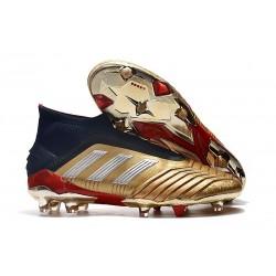 New adidas Predator 19+ FG Soccer Cleats Golden Silver