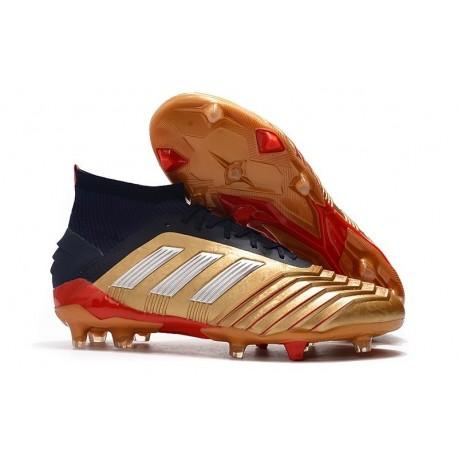 adidas Predator 19.1 FG Firm Ground Boots - Golden Red White