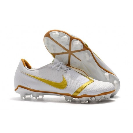 Nike Phantom Venom Elite FG Soccer Cleat White Gold