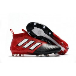 New 2017 adidas ACE 17+ Purecontrol FG Soccer Cleats - Red White Black