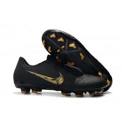 Nike Phantom Venom Elite FG Soccer Cleat Black Metallic Gold