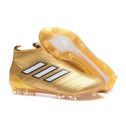New 2017 adidas ACE 17+ Purecontrol FG Soccer Cleats - Gold White