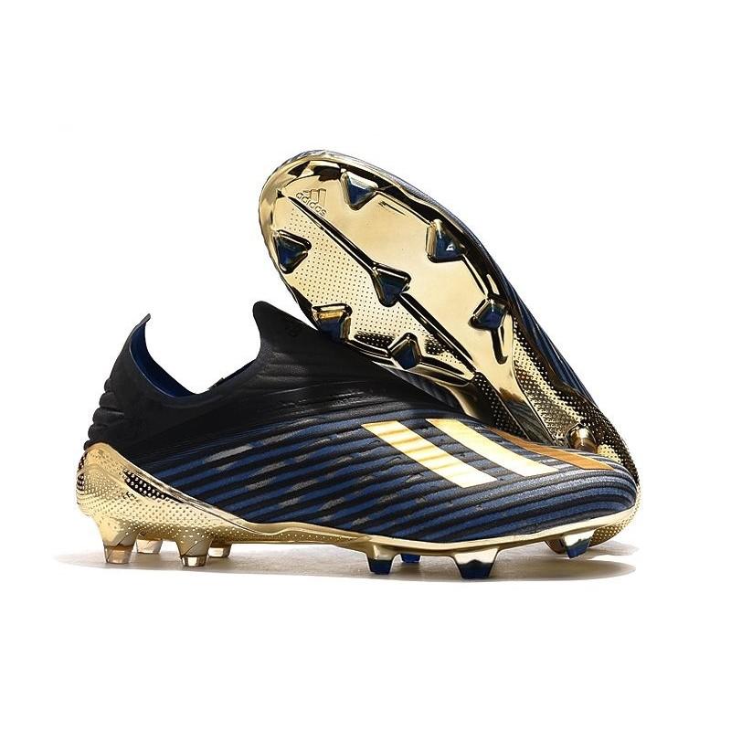 Elemental muñeca cuero  adidas X 19+ FG New Soccer Boots Blue Black Gold