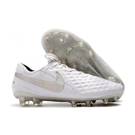 Nike Tiempo Legend 8 Elite FG Firm-Ground Boot White Platinum Grey